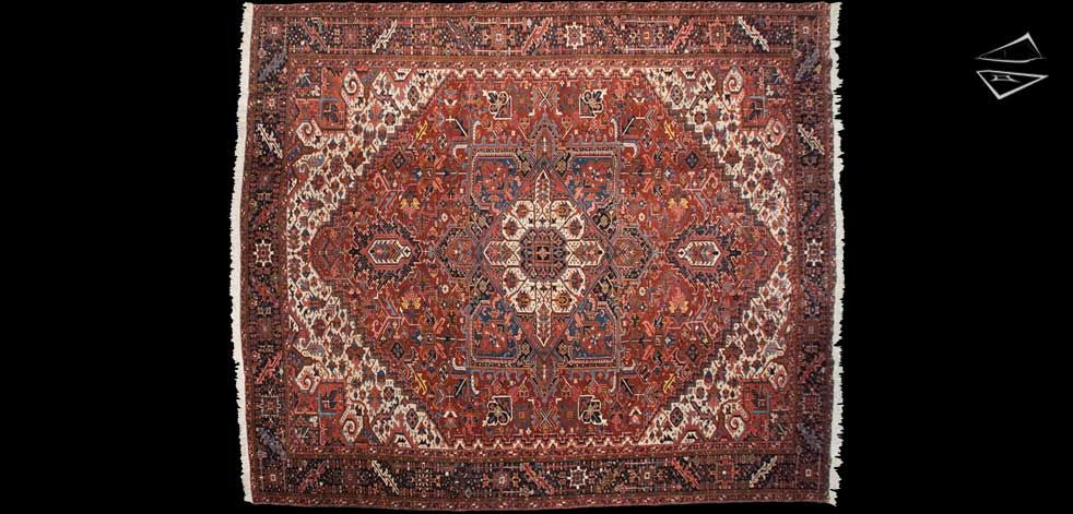 12 14 Persian Bakshaish Square Rug Persian Heriz Rug Square Rugs Rugs
