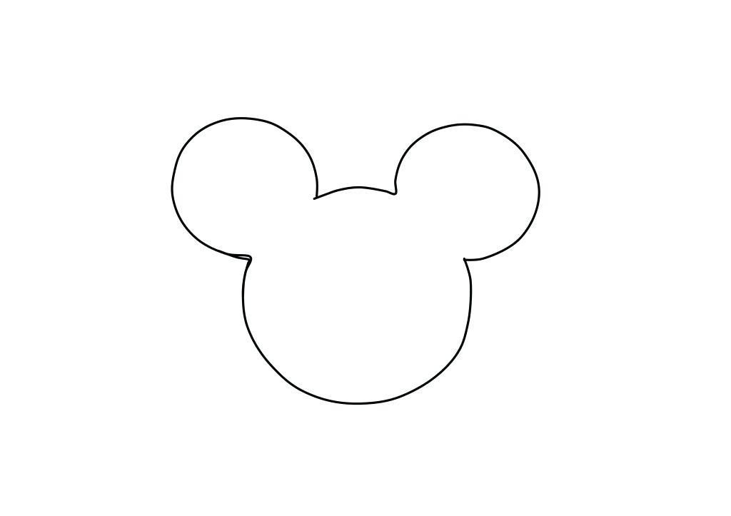 photograph about Free Printable Mickey Mouse Silhouette titled Mickey Mouse Mind Silhouette Template Revealed T Blouse Hoodie