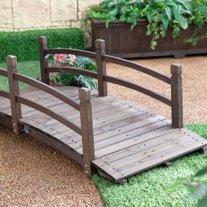 Garden Bridge With Low Railing #landscaping #bridge