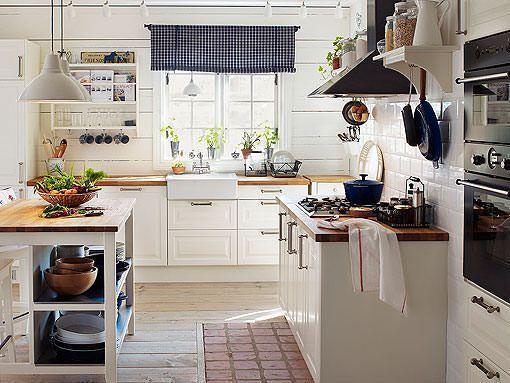 Bonito Imágenes De La Cocina Blanca Ikea Ornamento - Ideas de ...