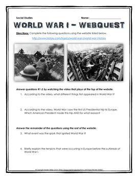 world war one webquest with key wwi. Black Bedroom Furniture Sets. Home Design Ideas