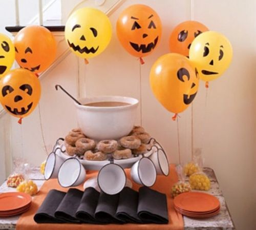 Balloon Halloween Decorations Ideas Kids Party decorating design 15 - how to make halloween decorations for kids