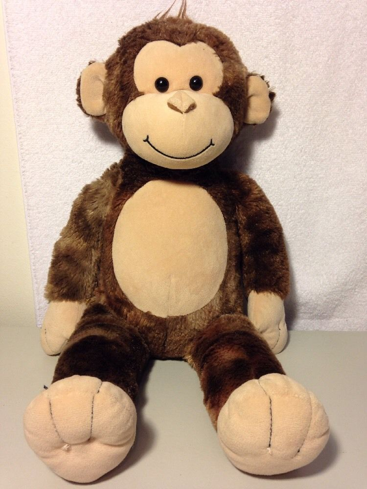 9ea96ace59ce BUILD A BEAR Monkey Plush Stuffed Brown Animal Toy BABW 18 Inches Tall
