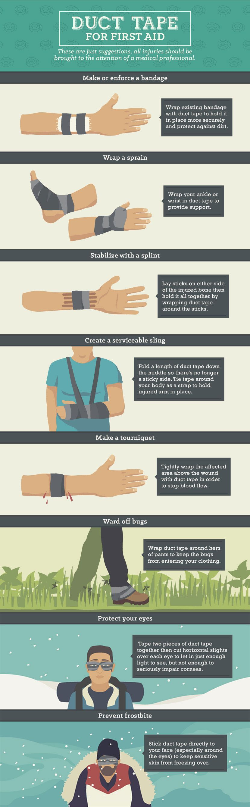 Duct Tape Guide - Using Duct Tape for First Aid