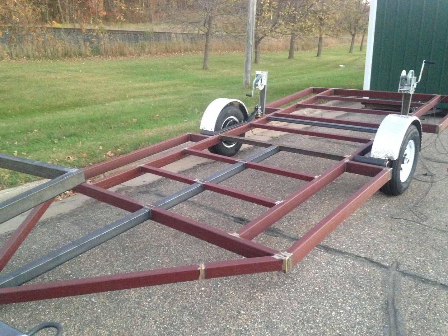 Miltona Blacksmith Trailers in 2019 | Trailer build, Ice ... on movable ice house designs, portable fish house designs, ice house axle plans, ice fishing house designs, ice house ideas, ice shack designs,