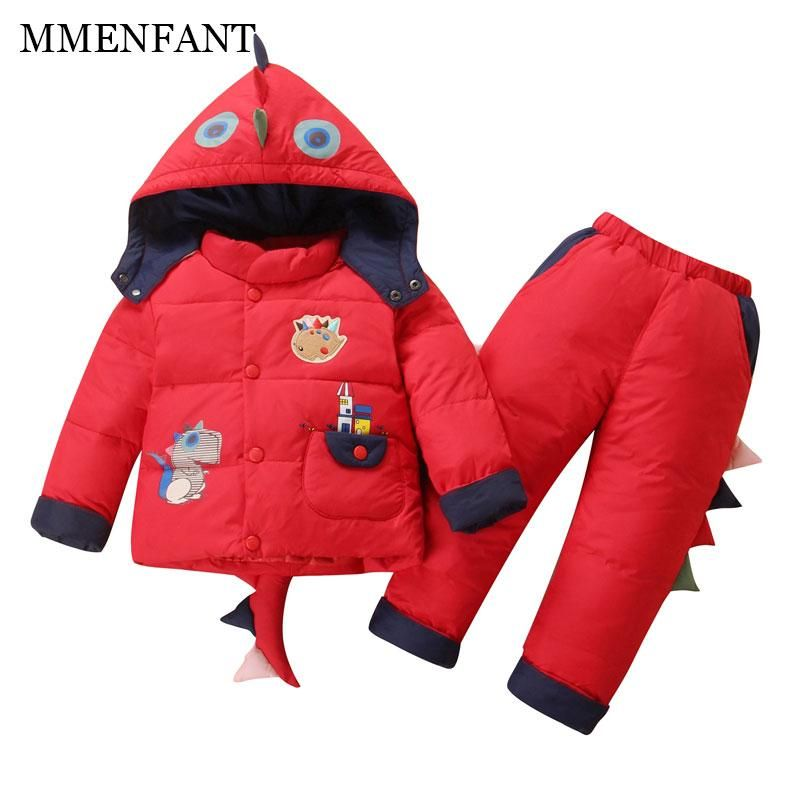 a2b2574f4683 2017 winter Children clothing set Russia baby Girl Ski suit sets ...