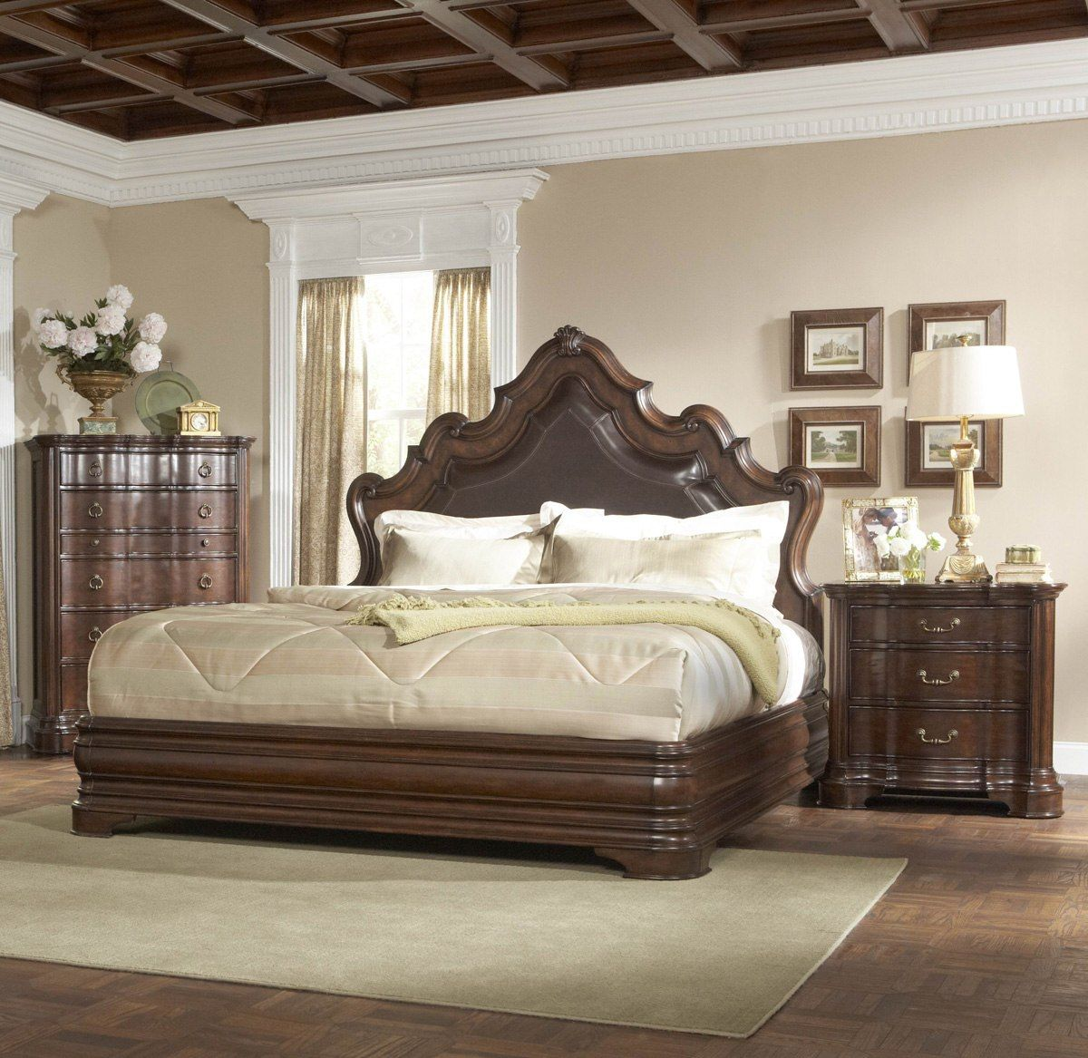 Romantic Luxury Master Bedroom  Homelegance Perry Hall 3 Piece Unique Fancy Bedroom Sets 2018