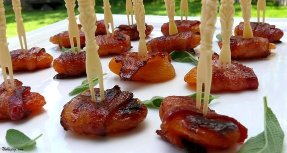 Photo of Bacon-Wrapped Apricots with Sage