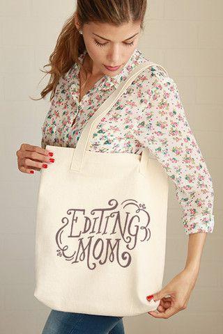 Editing Mom Tote Bag