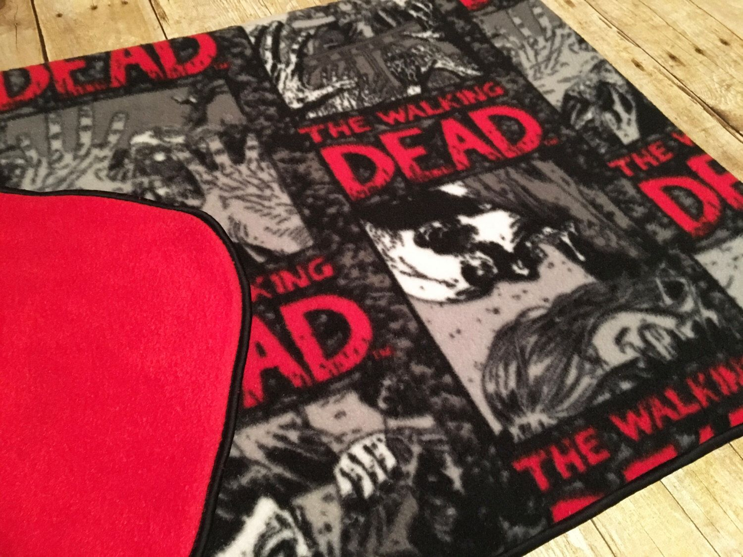 Walking Dead Throw Blankets Beauteous Walking Dead Fleece Throw Walking Dead Fleece Blanketwalking Dead Design Decoration
