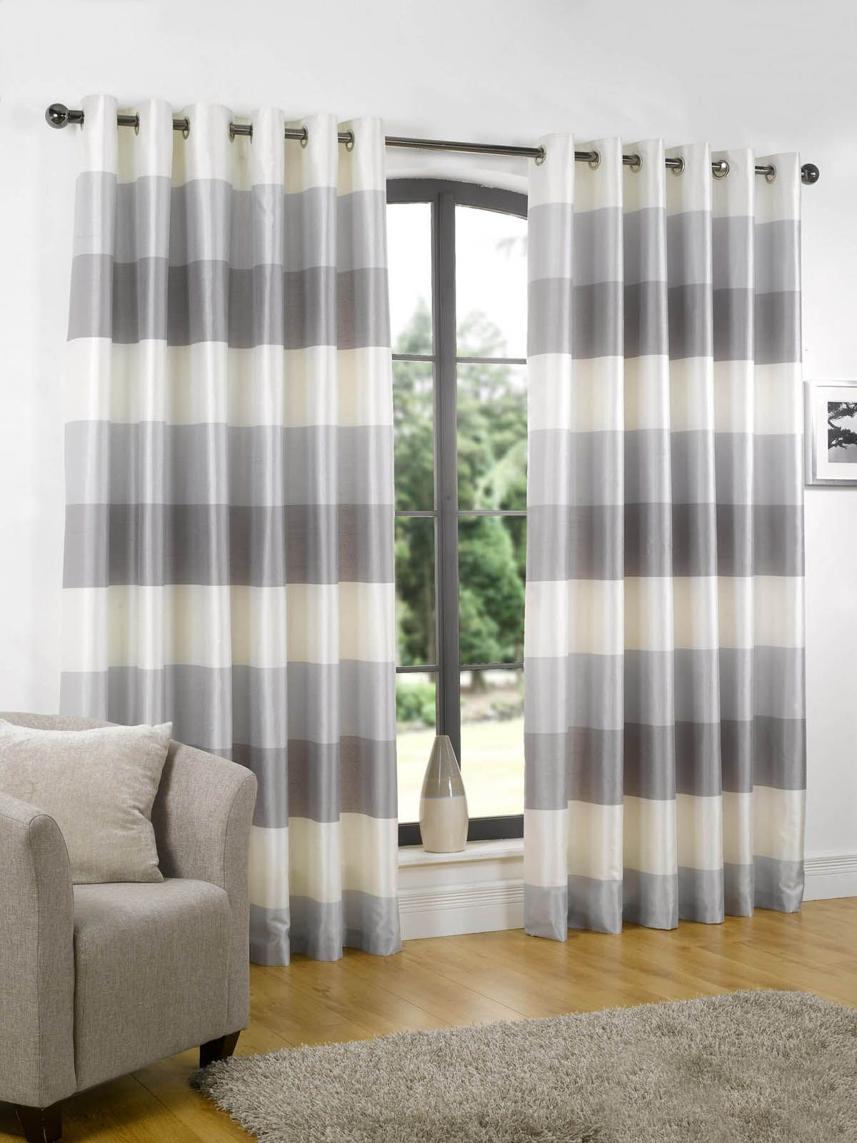 Striped Living Room Curtains Rio Ready Made Eyelet Lined Curtains Sandys Living Room