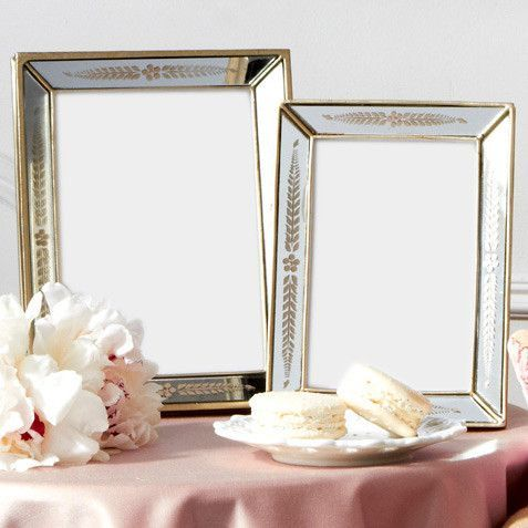 Gold Leaf Antiqued Mirror Photo Frames 4x6 or 5x7 by Two\'s Company ...