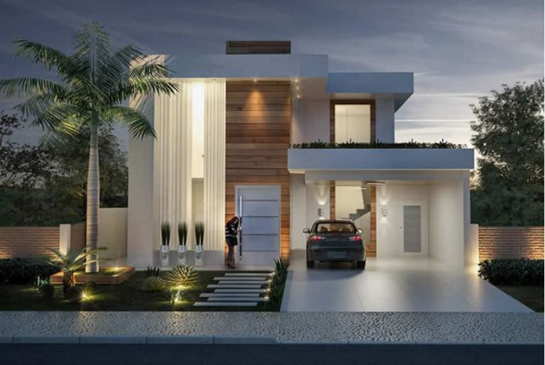 Home Design 12x30 Meters 4 Bedrooms Modern House Design House Design Modern House Plans
