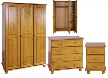 Solid Pine Bedroom Furniture Set 3 Door Wardrobe Drawers Bedside Hampshire Solid Pine Range Nabory Mebeli Dlya Spalni Spalnya Iz Sosny Mebel Dlya Spalni