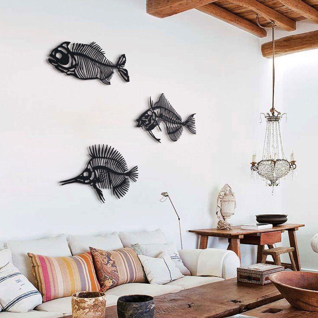 Fishbones With Images Metal Fish Wall Art Fish Wall Art