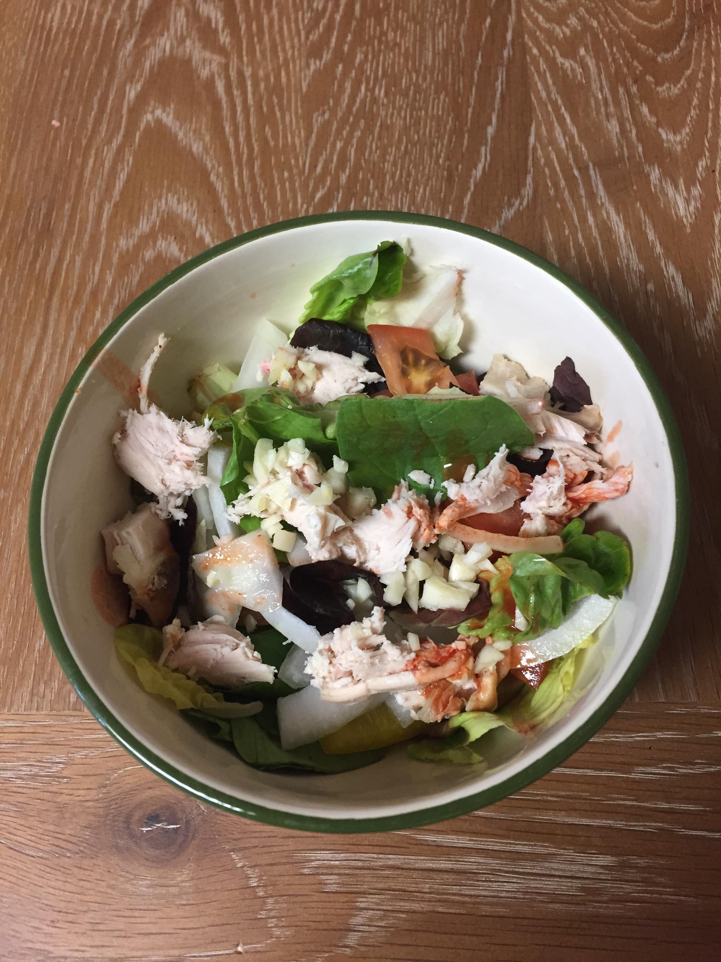 [homemade] Hot Garlic Chicken Salad. http://ift.tt/2kQCCXL