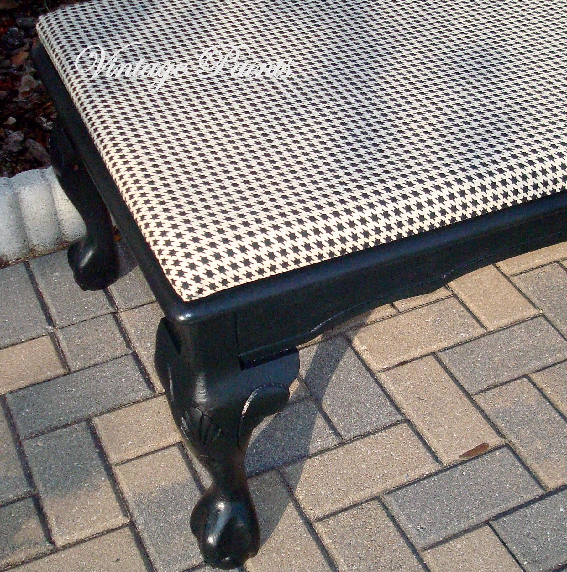 Houndstooth Bench Painted Furniture Vintage Paints Alabama Roll Tide
