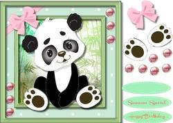 Adorable Pand in the Bamboo,
