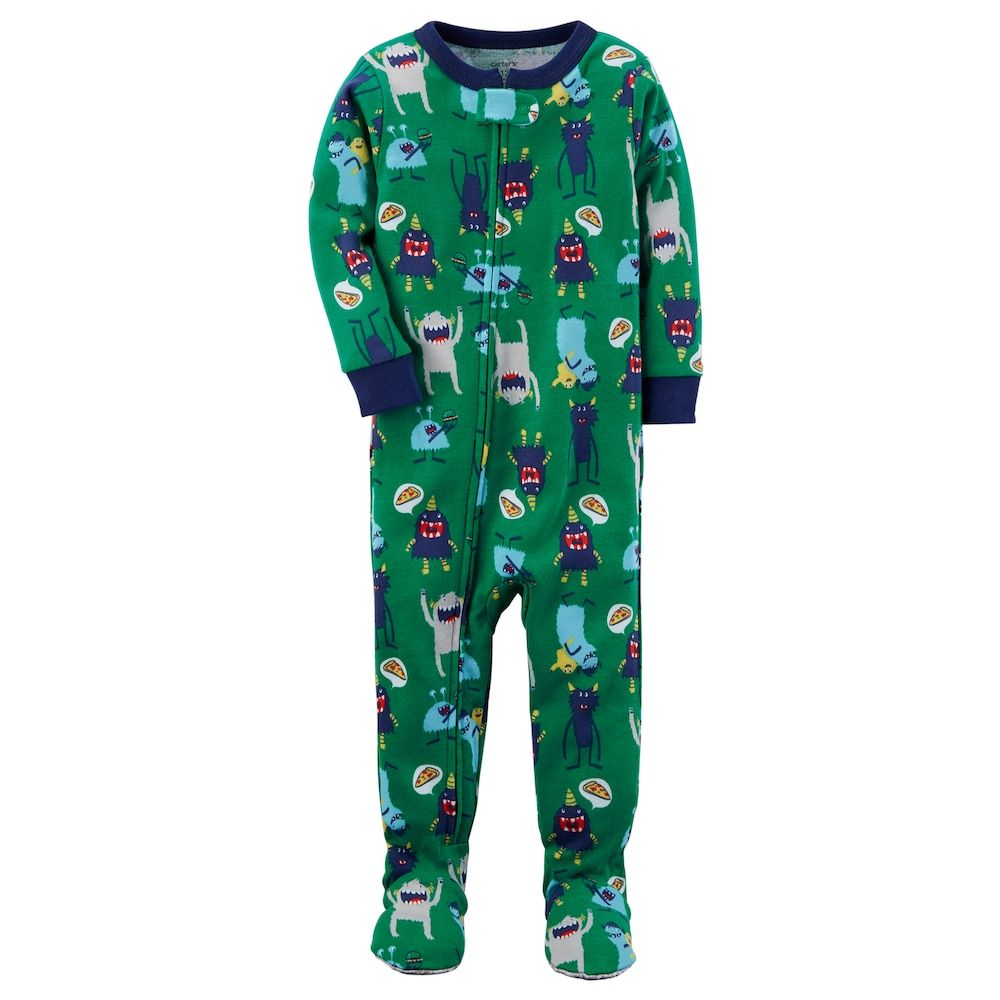 b99e49a194f2 Baby Boy Carter s Graphic One-Piece Footed Pajamas