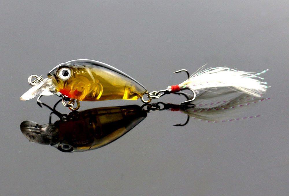 200PCS 4.5cm 4g Fishing Lures Crank Baits Mini Crankbait
