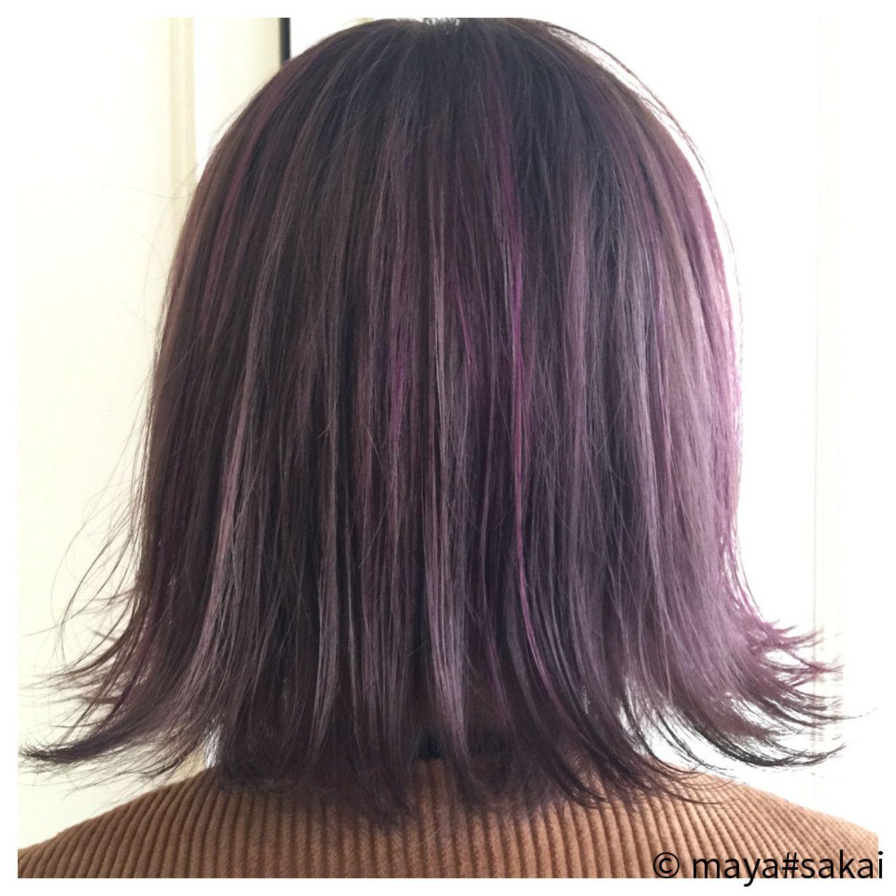 Maya Sakai R Rover By H 髪 色 紫 ヘアカラー ヘアカラー パープル