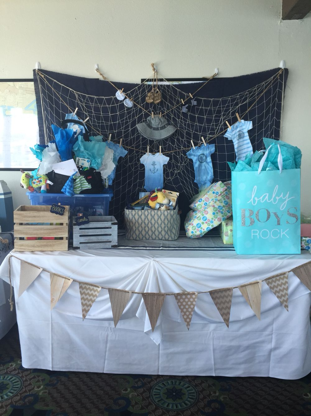 Baby Boy Shower Gift Table Baby Shower Fishing Baby Shower
