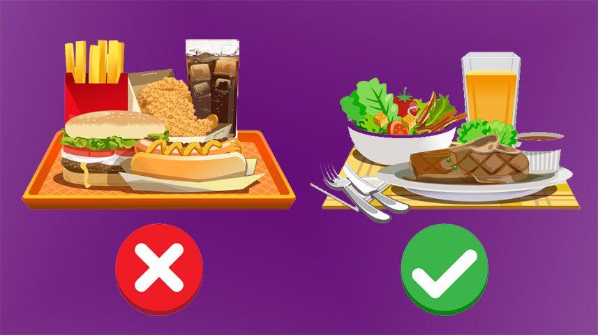 7 طرق لتناول الطعام غير الصحي بطريقة صحية