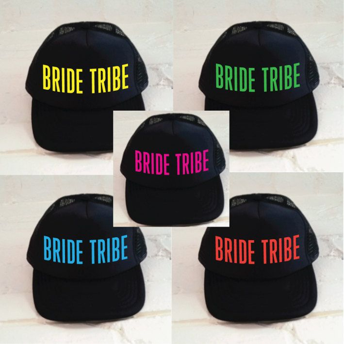 Bride Tribe Hats. Bride Hat. Bridesmaid Hat. Maid Of Honor Hat. Wedding  Trucker Cap. Bachelorette Party Hats. Bridal Hat. Hen Party Hats. by  SoPinkUK on ... 368af05636a