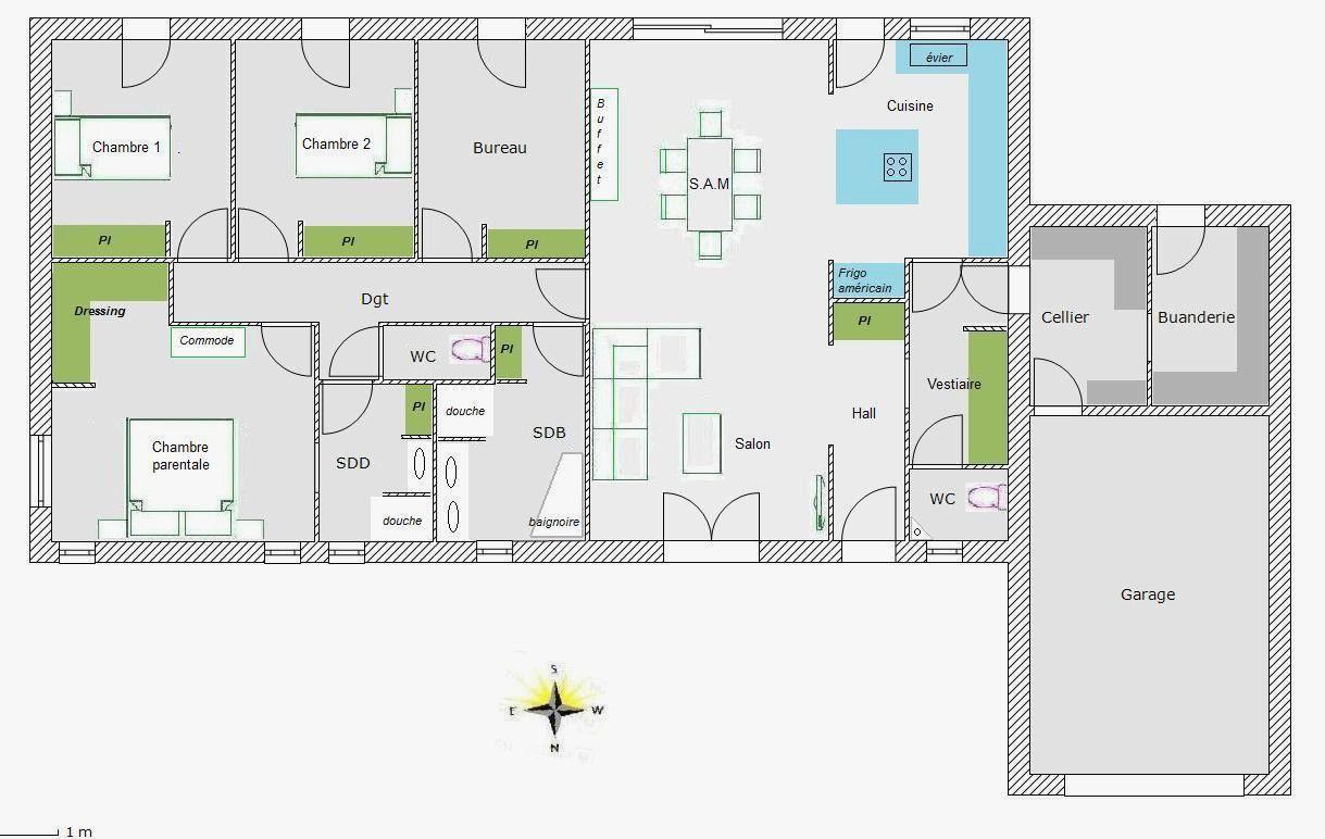 Plan Maison 200m2 Plein Pied Unique Plan Maison 200m2 Plein Pied Agrandir Un Loft Ingnieux Of Plan Maison 200m2 Plein P How To Plan Container House Floor Plans