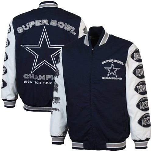 485b7de9e  139.99. Zip-Up Canvas. Embroidered Logos. 100% cotton canvas. Wear your  Super Bowl® pride in the Dallas Cowboys canvas varsity jacket.