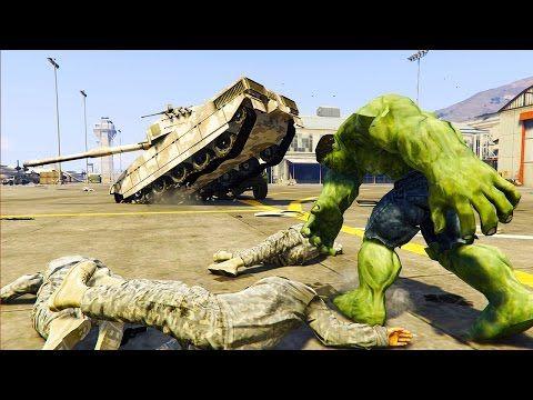 GTA 5 Mods - INCREDIBLE HULK MOD! HULK VS MILITARY BASE! (GTA 5 Mod