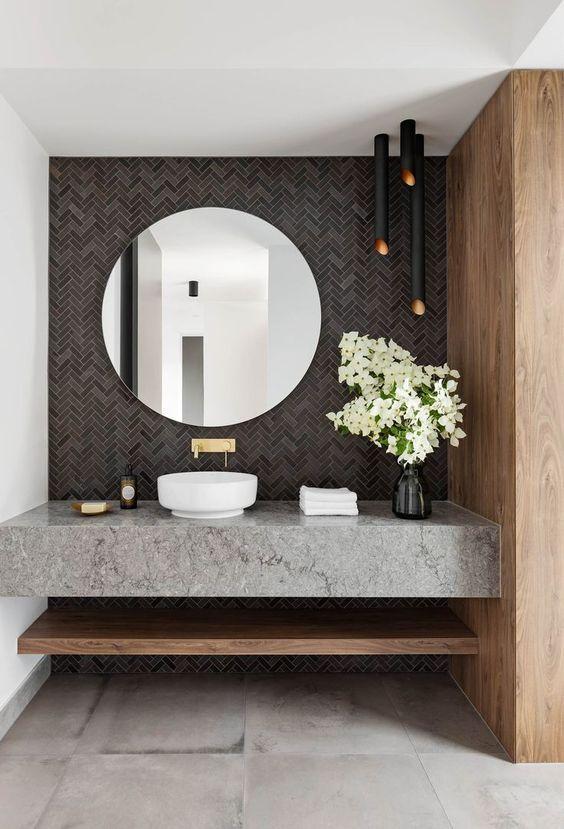 Die schönsten Badezimmerwände Ideen und Designs #simplebathroomdesigns
