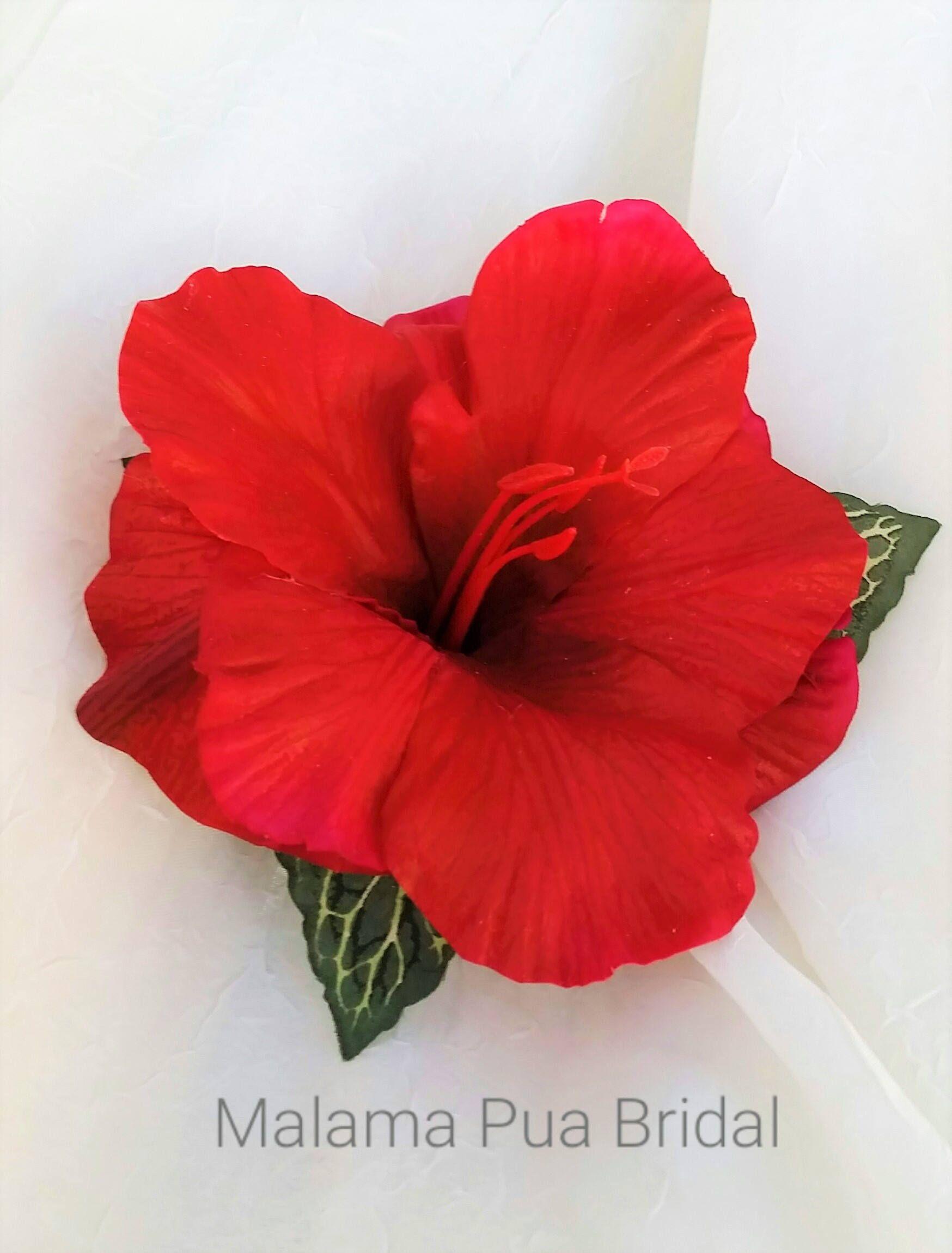 Hibiscus Hair Clip Bridal Hair Accessory Tropical Flower Wedding