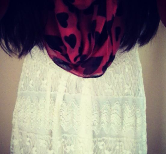 Lace and scarf