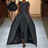 Photo of Tuta da cintura elegante senza maniche in puro colore per donna # nailondict # nail2ins …