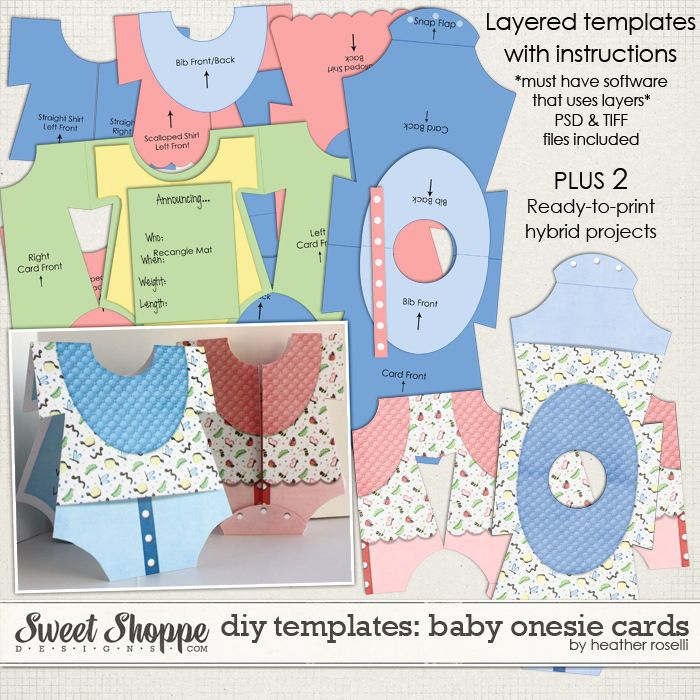 Diy Printable Baby Cards Onesie Templates | Printables | Pinterest