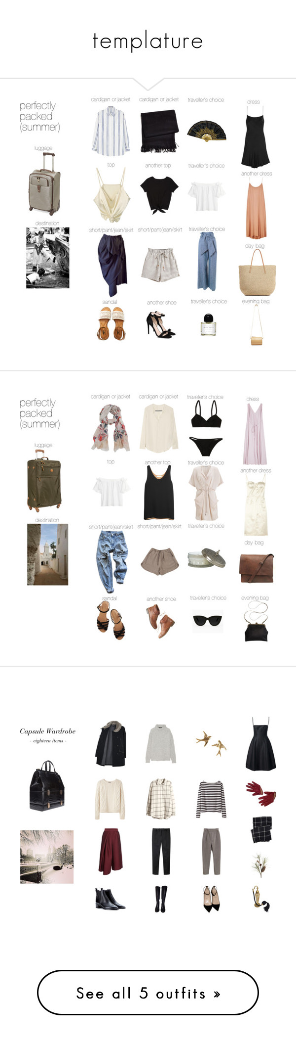 """templature"" by mermaidism ❤ liked on Polyvore featuring Summer, vacation, rome, iwishthiswasmylife, template, Morocco, Winter and winterwardrobe"