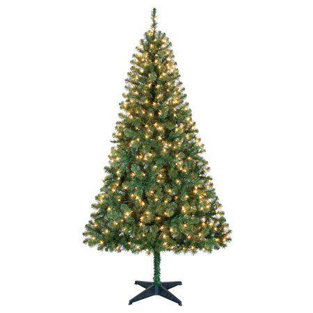 Holiday Time Prelit Pine Christmas Tree 6 5 Ft Green Walmart Com Pre Lit Christmas Tree Pine Christmas Tree Green Christmas Tree