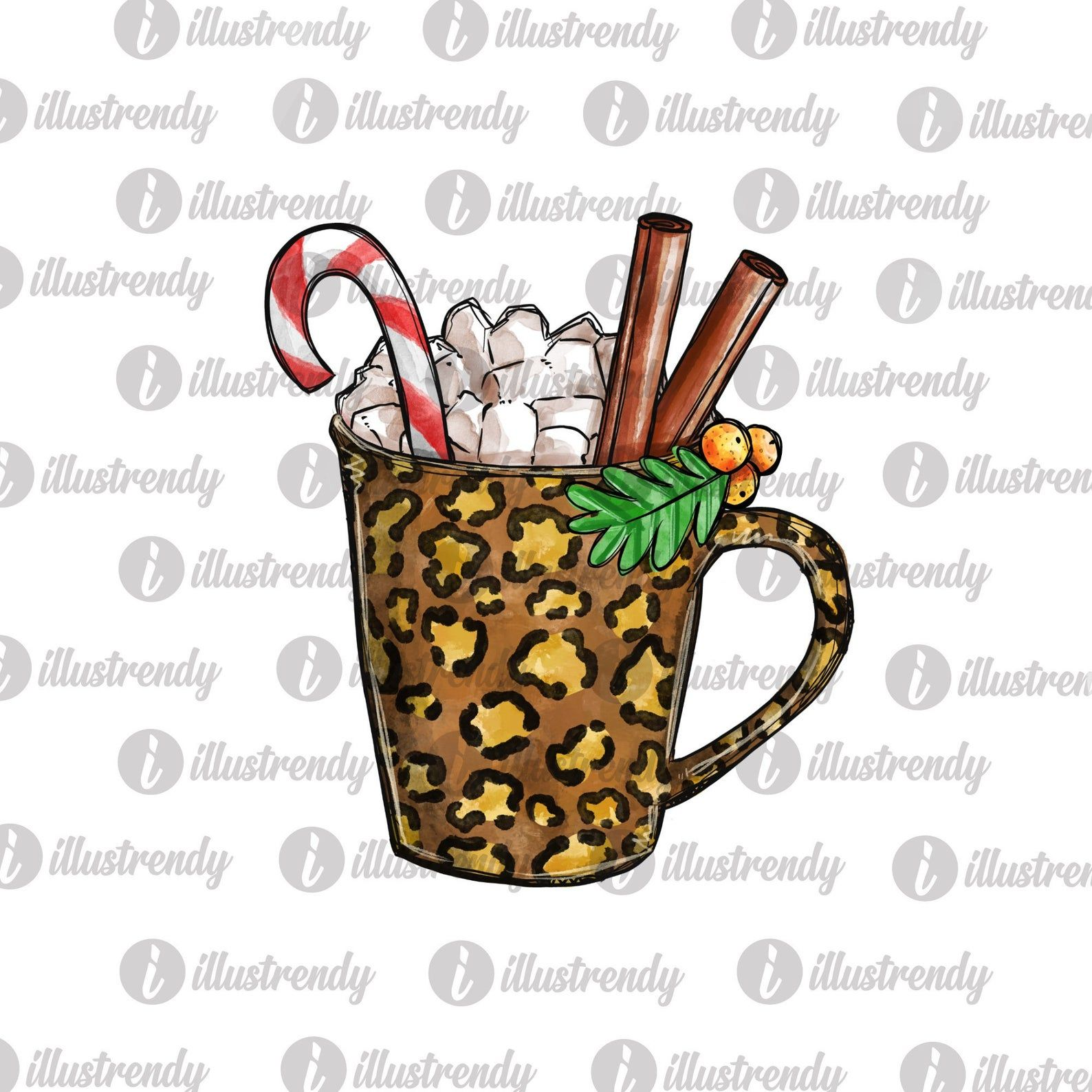 Leopard Hot Cocoa Mug Png File For Sublimation Christmas Etsy In 2020 Hot Cocoa Things To Sell Holiday Prints