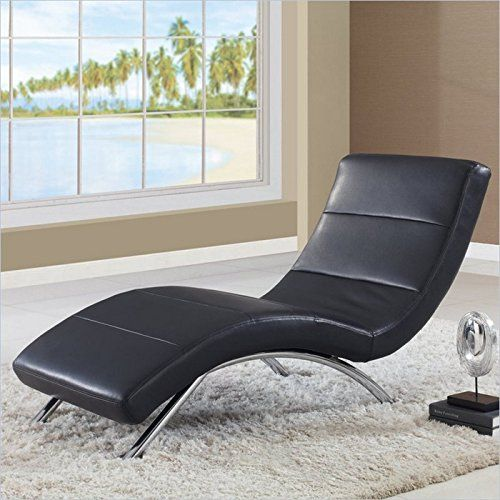 Global Furniture Usa Ultra Bonded Leather Metal Chaise Lounge With White Chrome Legs Global Furnitu Global Furniture Leather Chaise Lounge Global Furniture Usa