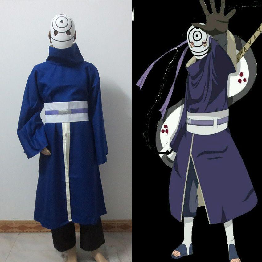 Naruto0 Akatsuki Ninja Tobi Obito Madara Uchiha Cosplay Kostüm