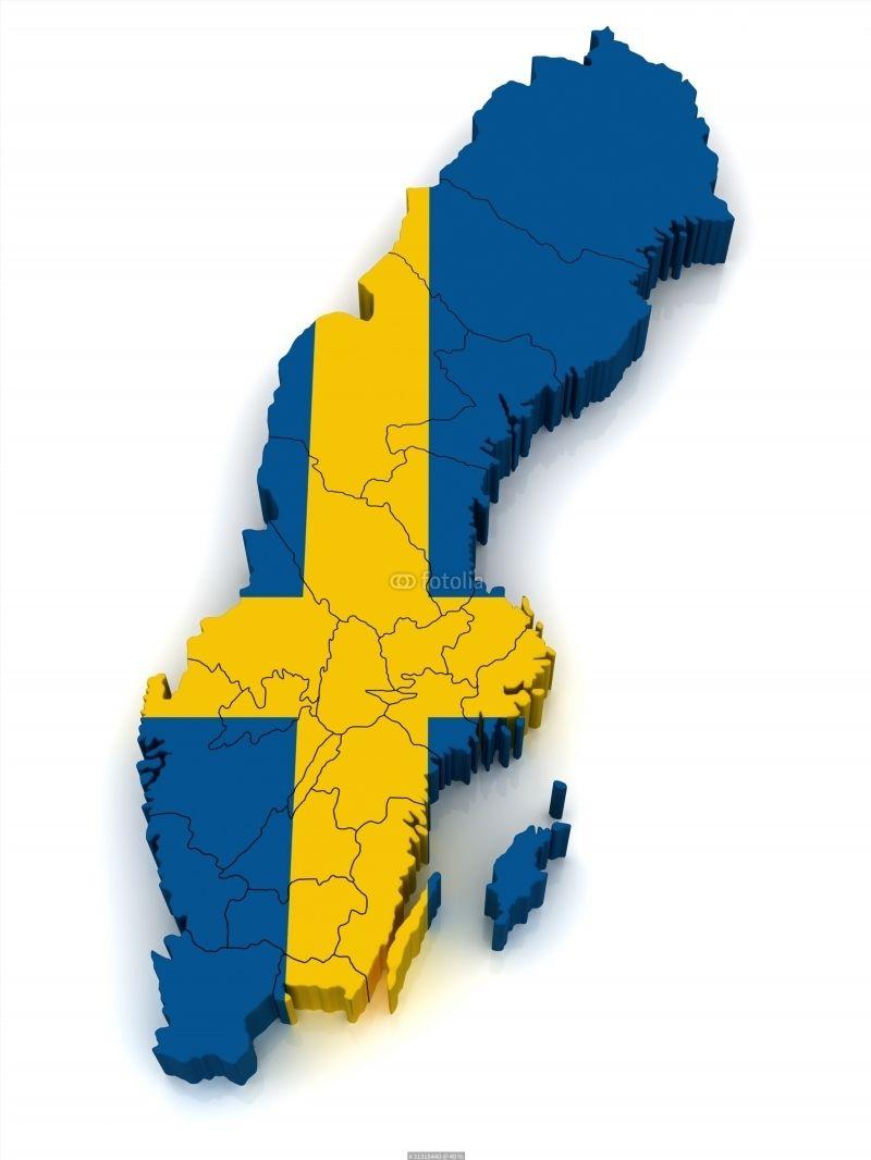 3D Map of Sweden poster | World Map Poster | Pinterest