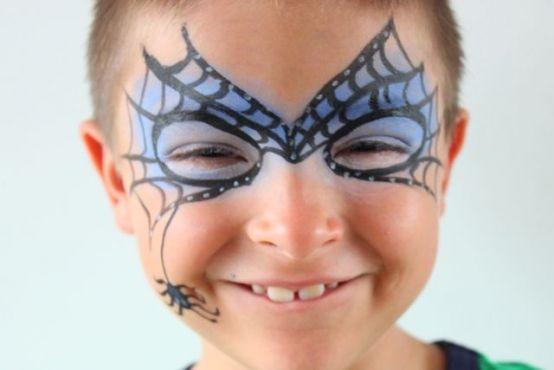 Paso a paso maquillaje para niños en Halloween Maquillaje para - maquillaje de halloween para nios