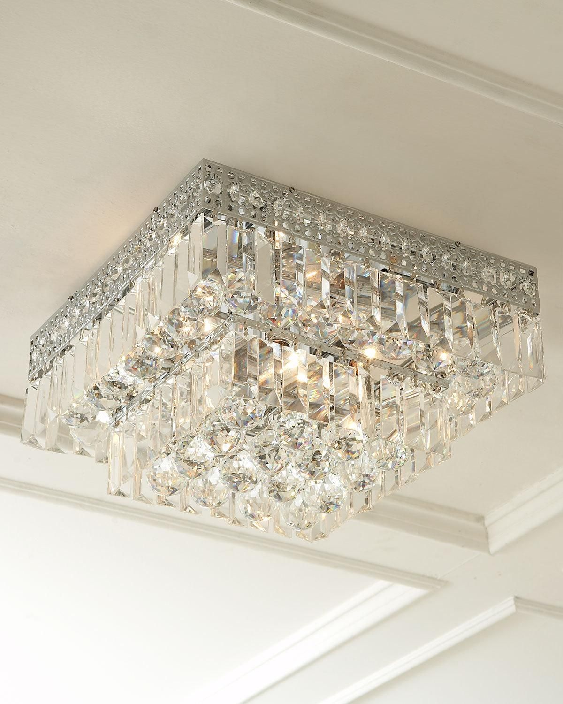 Five Light Crystal Flush Mount Ceiling Fixture Ceiling Fixtures