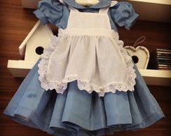 Vestido Alice No Pais Das Maravilhas Vestido Alice No Pais Das