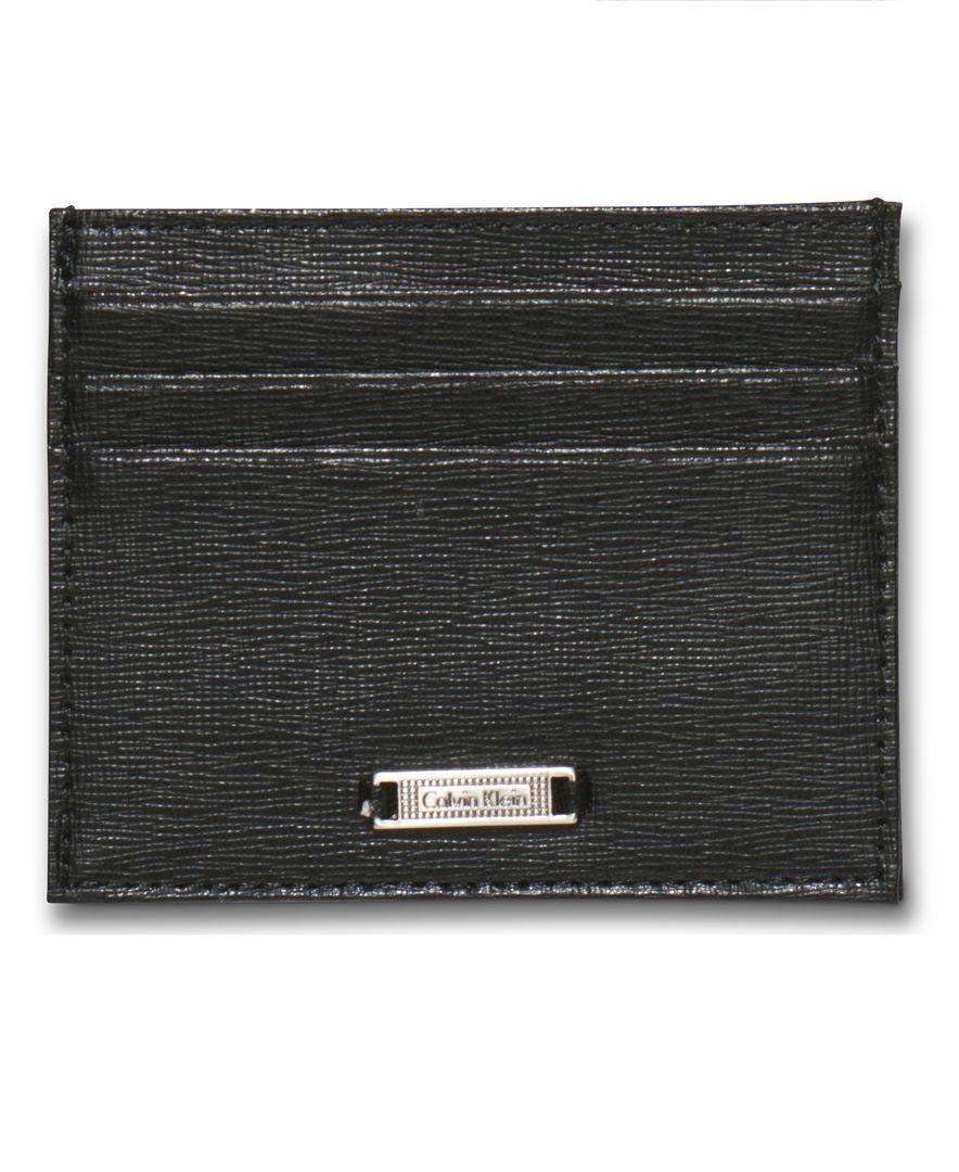 Calvin Klein Saffiano Credit Card Case Wallet