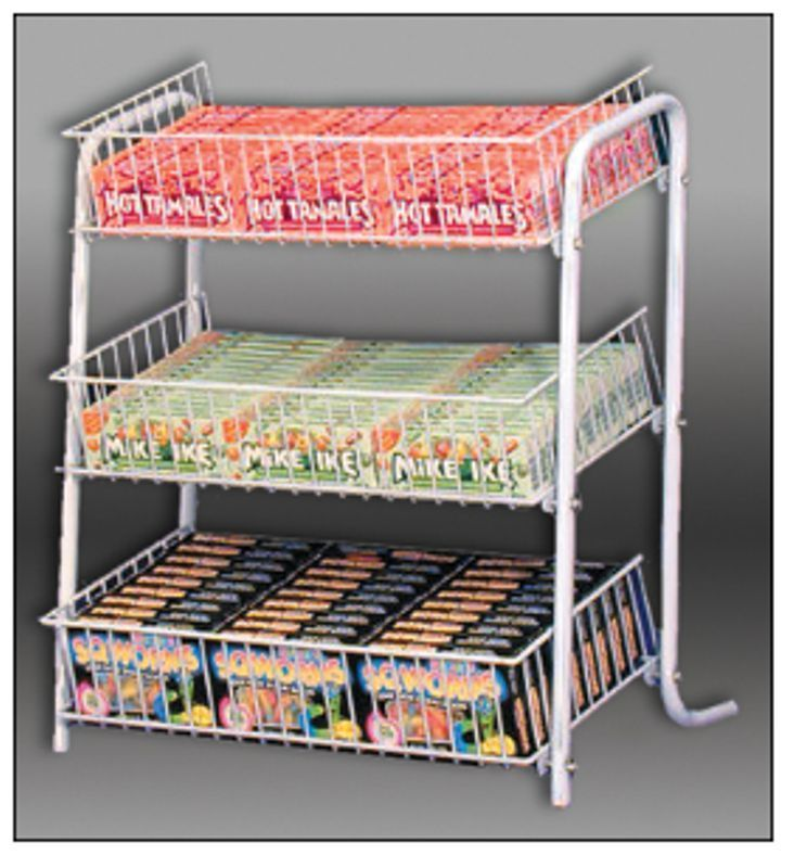 Ays 3 Tier Retail Counter Top Gum Candy And Snack Product Display