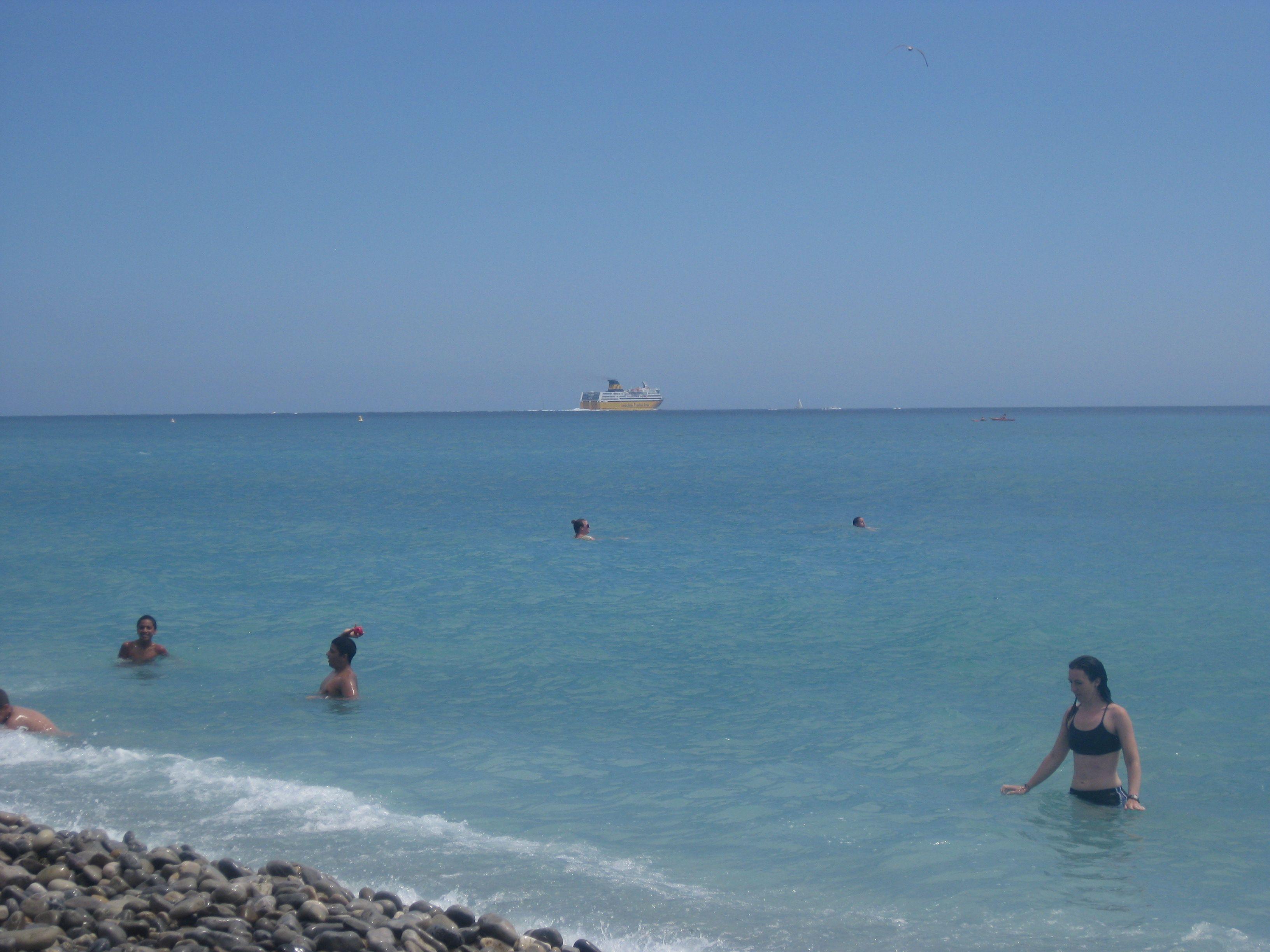 Bright blue skies over Nice