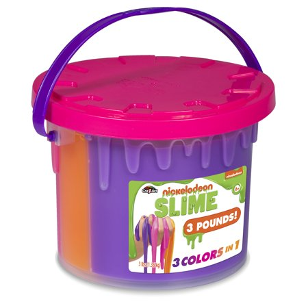 Cra Z Art Nickelodeon Slime 3lb Tri Color Bucket With 3 Colors In 1 Styles May Vary Walmart Com In 2020 Nickelodeon Slime Slime Nickelodeon
