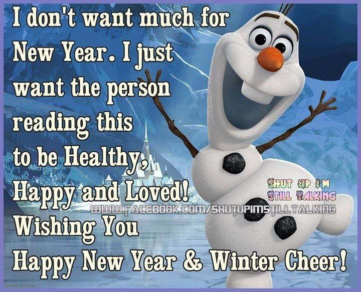 i dont want much for new year frozen happy
